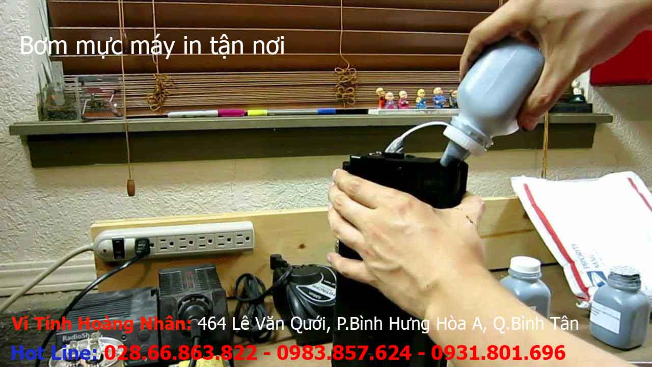 Bơm mực máy in tại nhà