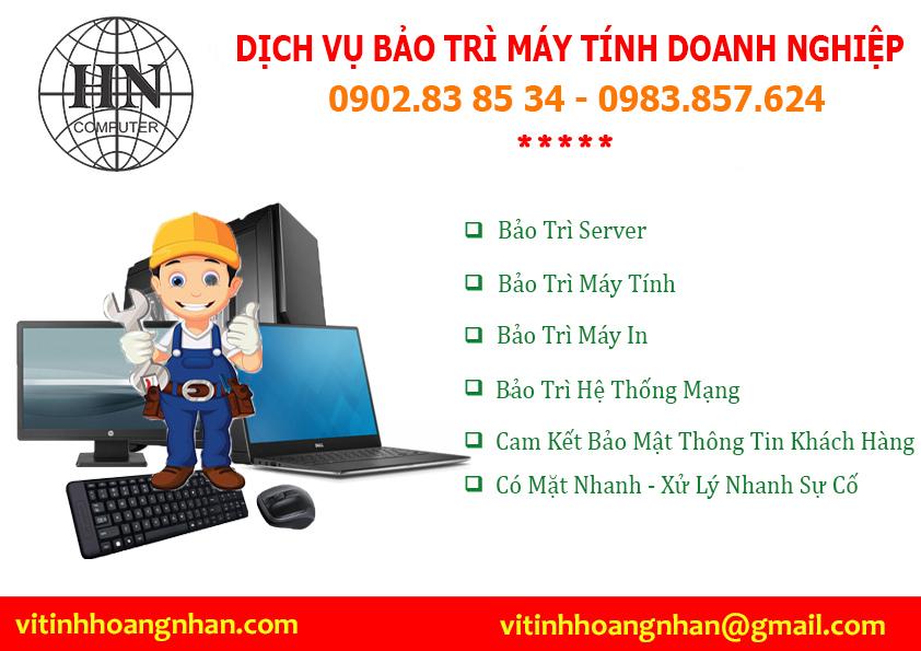 Dịch vụ bảo trì máy tính cho doanh nghiệp