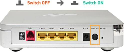 tắt mở nguồn modem